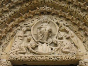 Монастырь Порта Коели. Тимпан входного портала